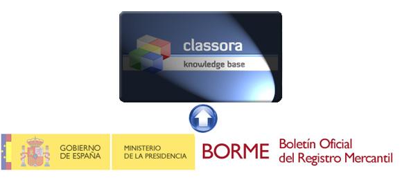 Logos de Classora y el BORME