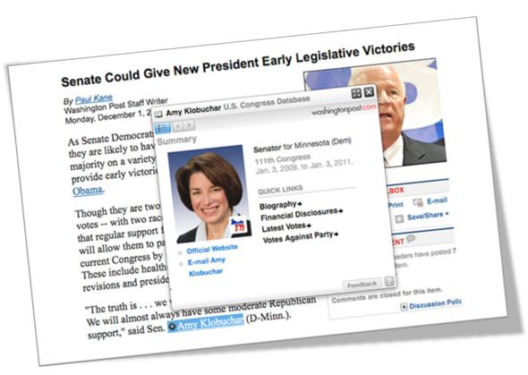 Ejemplo de enriquecimiento de contenidos en The Washington Post